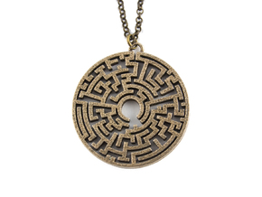 Maze Original Pendant Steel in Polished Bronzed Silver Steel