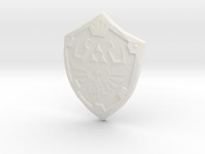Hylian Shield in White Natural Versatile Plastic