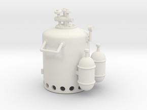 Vosper Smoke Generator 1/35 Scale in White Natural Versatile Plastic