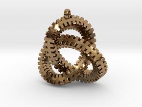 Escher Knot Pendant in Natural Brass
