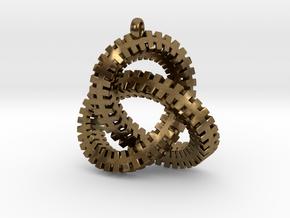 Escher Knot Pendant in Natural Bronze