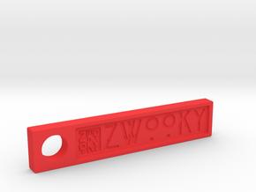 ZWOOKY Style 6 Sample - Keyring  in Red Processed Versatile Plastic