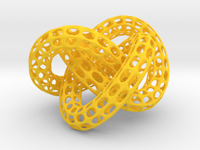 Webbed Knot with Intergrated Spheres in Yellow Processed Versatile Plastic