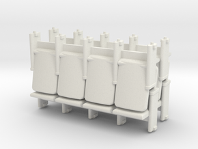 4 X 4 Theater Seats HO Scale in White Strong & Flexible