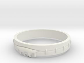 Bleeding Ring in White Natural Versatile Plastic