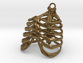 Ribcage Ring or Pendant - 19mm in Natural Bronze