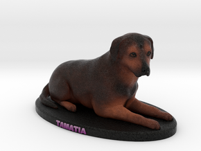 Custom Dog Figurine - Tamatia in Full Color Sandstone