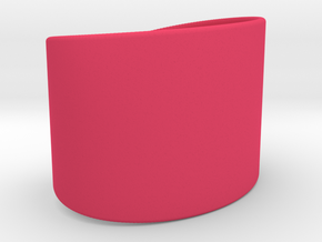 Wrist Cuff - simple curve in Pink Processed Versatile Plastic