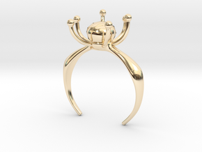 Flower Ring With Stone in 14K Yellow Gold