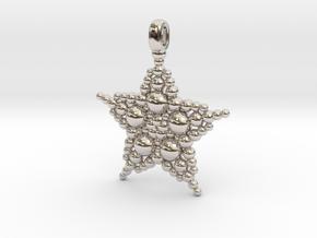 COSMIC STARFISH Designer Jewelry Pendant in Platinum