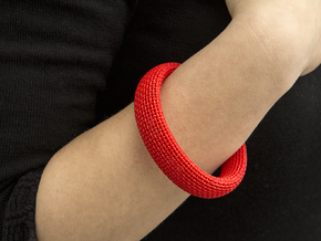 Medium Size - Textile Bracelet in Red Processed Versatile Plastic