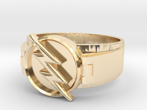 Reverse Flash Ring Size 10.5 20.2mm  in 14K Yellow Gold