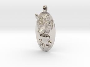 WOLF HEAD&PAWN Jewelry Pendant in Platinum