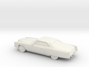 1/87 1971 Cadillac Eldorado Convertible in White Natural Versatile Plastic