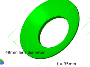 Lieberkühn Reflector 49mm lens diameter, f = 35mm  in White Natural Versatile Plastic