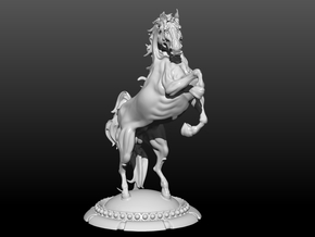 Horse 5.5in/14cm in White Natural Versatile Plastic