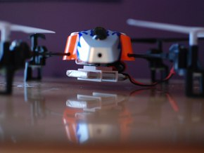 Drone 1200mAh Battery Holder in White Strong & Flexible