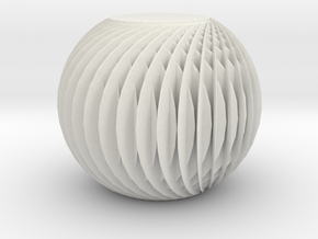 Textured Abstract Ball in White Natural Versatile Plastic