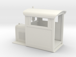 Gn15 small Whitcomb loco body  in White Strong & Flexible