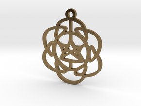 Vibrations Pendant in Polished Bronze