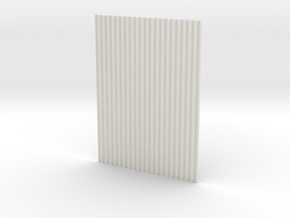 1:6  corrugated panel  in White Strong & Flexible