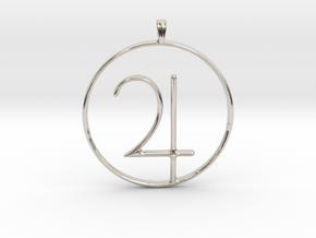 JUPITER Planet symbolism Jewelry Pendant in Platinum