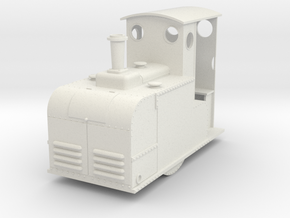 Gn15 small early Rushton paraffin style loco  in White Strong & Flexible