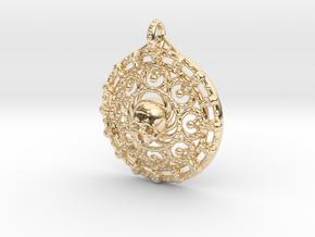 Skull Mandala in 14K Yellow Gold