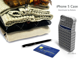 """iPhone 5 - """"Sweater"""" Case with Pocket in White Processed Versatile Plastic"""