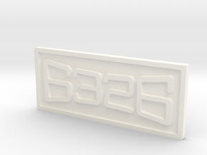 """CNO&TP Ms-4 #6326 3/4"""" Scale Number Plate in White Processed Versatile Plastic"""