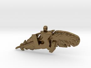 13.1 HALF MARATHON FEATHER NECKLACE in Natural Bronze