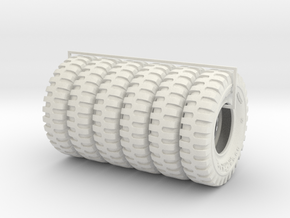 1-18 6x tire 1200x20 in White Strong & Flexible