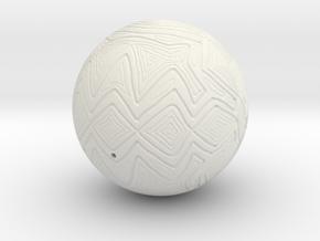 Christmas Tree Ornament #24 in White Natural Versatile Plastic
