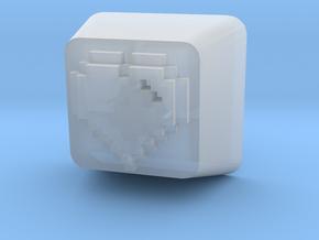 8 Bit Heart Cherry MX Keycap in Smooth Fine Detail Plastic