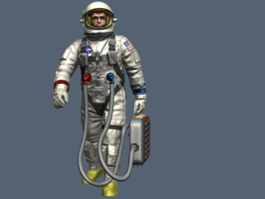 Gemini Astronaut / 1:12 / Walking Version in White Strong & Flexible