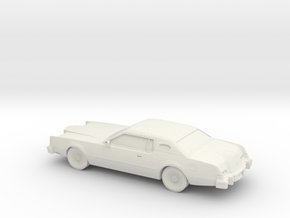 1/87 1974 Lincoln Mark IV in White Natural Versatile Plastic