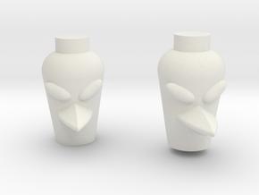Bird Head in White Natural Versatile Plastic