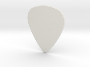 Guitarpick THICK 1mm in White Natural Versatile Plastic