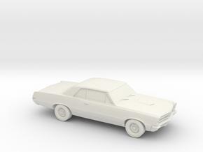 1/87 1965 Pontiac GTO in White Natural Versatile Plastic