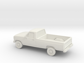 1/87 1984 Ford F Series in White Natural Versatile Plastic