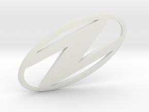 Uzebox Logo in White Natural Versatile Plastic