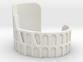Colosseum Bracelet Size Extra Small in White Natural Versatile Plastic