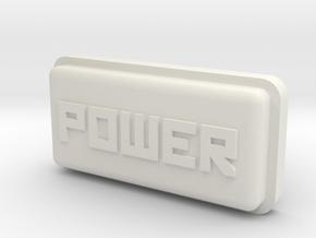 Uzebox Power Button in White Natural Versatile Plastic