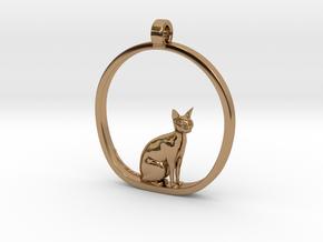 Cat v1 in Polished Brass