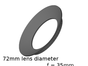 Lieberkühn Reflector 72mm lens diameter, f = 35mm in White Natural Versatile Plastic