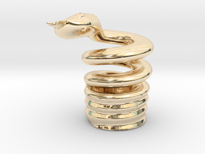 Snake Cigarette Stubber in 14K Yellow Gold