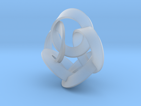 5 Twisted Loops Earring in Smooth Fine Detail Plastic