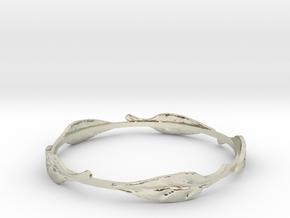 Leaf Bracelet in 14k White Gold
