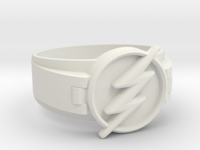 Flash Ring size 11 20.68mm  in White Natural Versatile Plastic