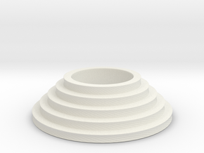 Circular stairs tealight in White Strong & Flexible